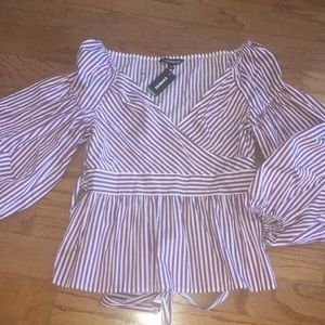 Express Striped Top NWT